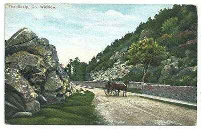 Vintage Postcard. The Scalp, Co. Wicklow.  Used 190?.  Ref:79201