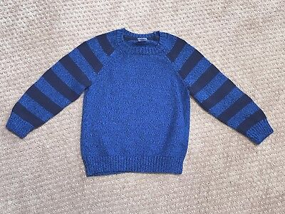 GYMBOREE Pull-Over Crewneck Striped Sweater Blue Boys Toddler Size 3T - VEUC!