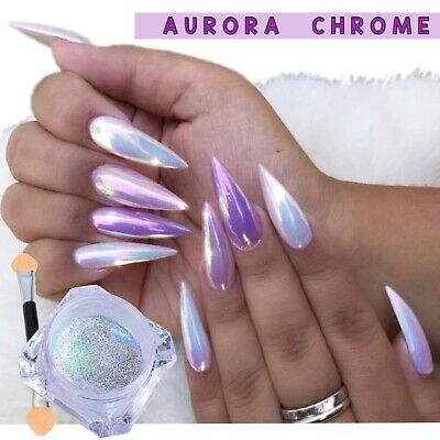 LUMINA AURORA NAIL POWDER AB Unicorn MIRROR Effect RAINBOW Crystal Opal (um)