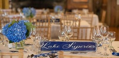 "Wedding Event Party Table Sign Decoration Centerpiece  ""Great Lakes"" set 5 signs"