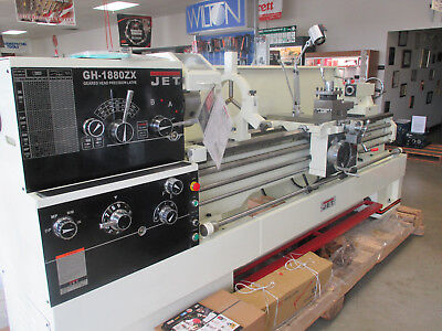 "NEW Jet GH1880ZX 3-1/8"" Large Spindle Lathe w/DRO,Taper Attachment,Collet Closer"