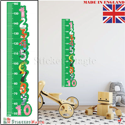 Height Chart Animal as Numbers Kids Wall Stickers Nursery Decor Vinyl Decal Art