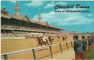 """Vintage collectible 3.5"""" x 5.5"""" POSTCARD Churchill Downs Kentucky Derby Day"""