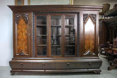Antique Carved Stunning Bookcase