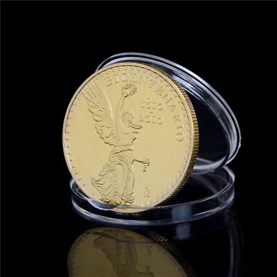 Mexico Independence 200years Coins Metal Gold Plated Physical Collection Gift U6