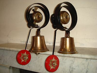 Pair of Victorian Servants Bells with Pendulums.