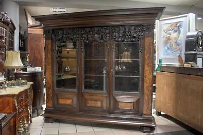 Magnificent  Heavily Carved  Bookcase