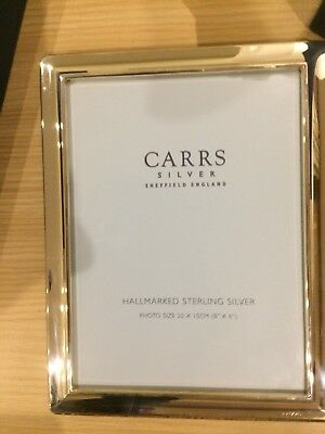 Carrs Hallmarked sterling silver boxed picture frame 20 x 15 cm