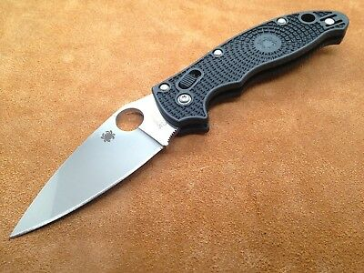 SPYDERCO MANIX 2 C101PBK2 Steel Dark Black Handle Plain Edge