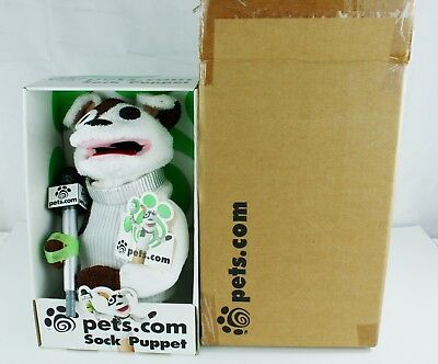 Vintage Pets.com Sock Puppet Dog w Microphone ~ New in Original Box