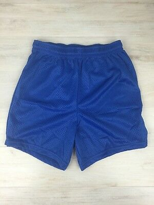 Augusta Sportswear Girls Large Mesh Athletic Gym Workout Shorts Blue Lot of 3