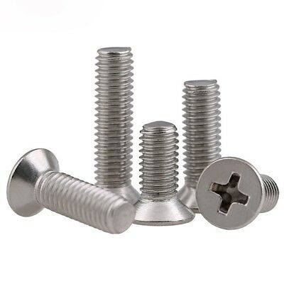 M3 / 3mm A2 Stainless Steel Countersunk Phillips Screws Machine Bolts GB/T819