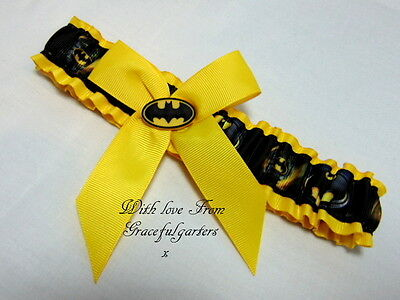 Batman Bridal Wedding Garter. Suicide squad.