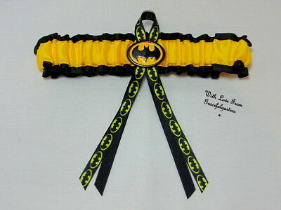 Batman superhero Bridal Wedding Garter. Brides Hen