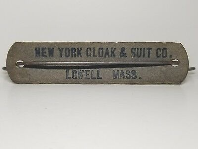 Antique vintage package carrying handle -advertised- New York cloak & suit Co.