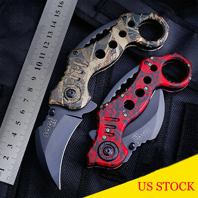 Outdoor Foldable Claw Karambit Tactical Blade Knife Survival Hunting Knives