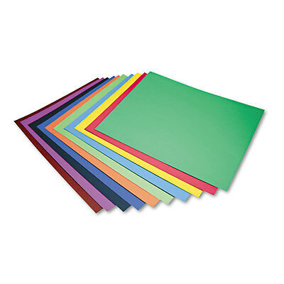 Pacon Peacock Four-Ply Railroad Board 22 x 28 Assorted 100/Carton 5487