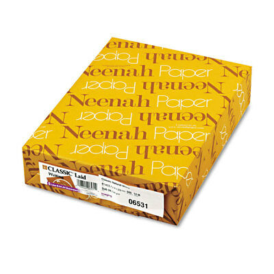Neenah Paper CLASSIC Laid Writing Paper 24lb 8 1/2 x 11 Natural White 500 Sheets