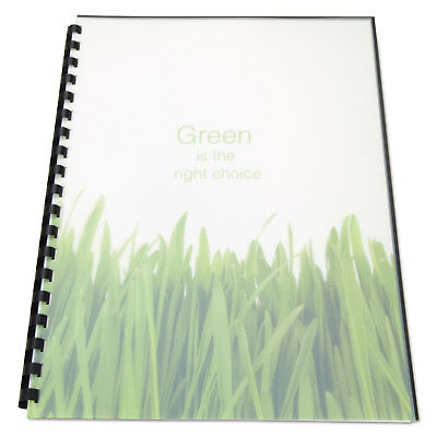 Swingline GBC 100% Recycled Poly Binding Cover 11 x 8-1/2 Frost 25/Pack 25817
