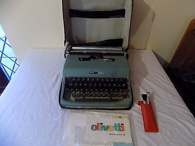 Vintage Olivetti Lettera 32 Typewriter New Black Red Ribbon Cased Fully Working