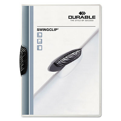Durable Swingclip Polypropylene Report Cover Letter Size Clear/Black Clip 25/Box