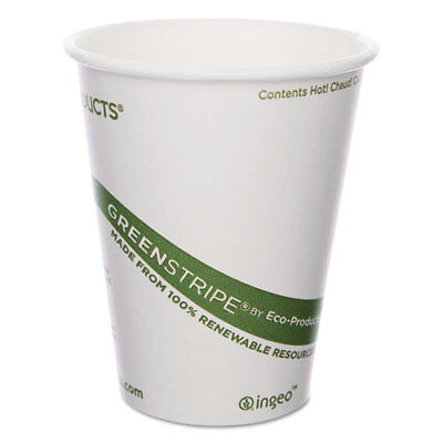 Eco-Products GreenStripe Renewable & Compostable Hot Cups - 8 oz. 50/PK 20 PK/CT