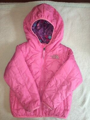 Girls North Face REVERSIBLE Winter Jacket - Size 4t