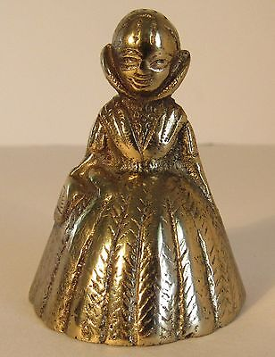 Antique Vintage Lady Brass Bell #5