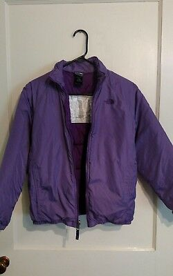 Girls North Face inner jacket size Large purple