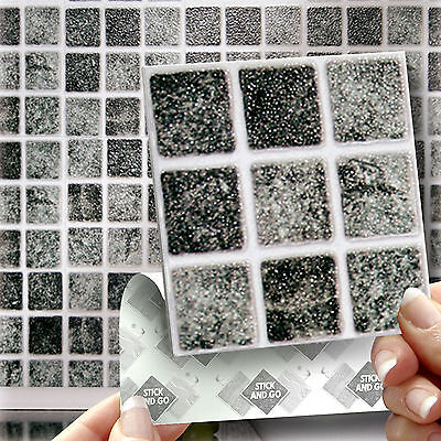 18 Granite Stick On Self Adhesive Wall Tile Stickers For Kitchen & Bathroom