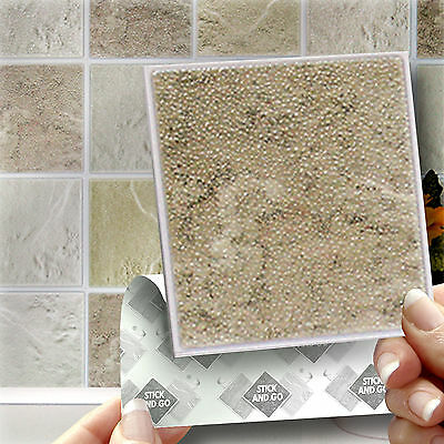 18 Cotswold Stick On Self Adhesive Wall Tile Stickers For Kitchen & Bathroom