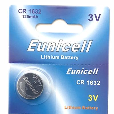 1 x CR1632 battery DL1632 KL1632 BR1632 3v button coin cell batteries Eunicell