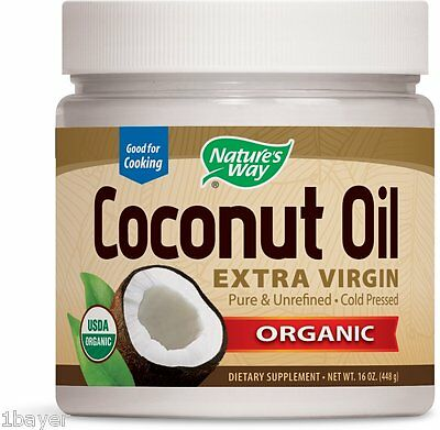 Nature's Way Organic Nutrition Vitamins Supplement Pure Coconut Oil (16oz)