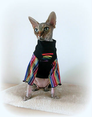 RAINBOW, Sphynx clothes cat top for a Sphynx cat for Katze cat clothes HOTSPHYNX