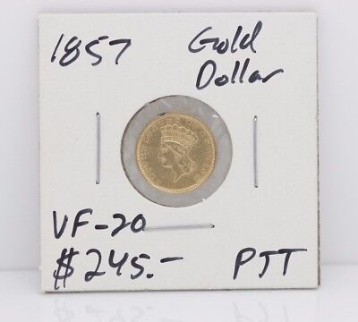 *GREAT CONDITION*1857 Indian Princess Gold Dollar Coin*PIECE OF HISTORY*