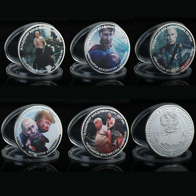 WR Russian President Putin US Trump Silver Coin Novelty Funny Set Friends Gifts