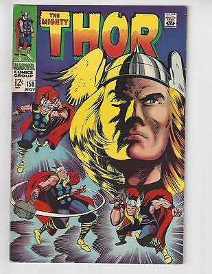 The Mighty Thor #158/Marvel Comic Book/Origin Story/VF-