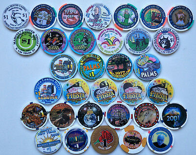 Las Vegas $1 Casino Chips - Limited Edition collection poker roulette LV NV