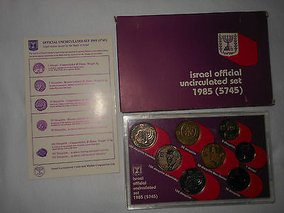 Israel Official Uncirculated Set 1985 Legal Tender Issued by the Bank of Israel