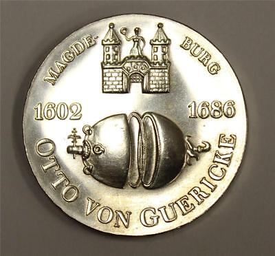 Germany 1977 Democratic Republic 10 Mark silver coin Otto Von Guericke AU58+