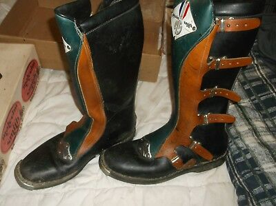 Malcolm Smith Vintage Boots ALPINE Stars  NEW (ALMOST)
