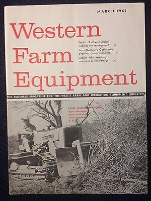 1961 Western Farm Equipment magazine John Deere 440 crawler dozer tractor sales