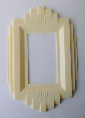 Vintage Art Deco Plastic Cream Light Switch Plate Cover Gits Molding Corp