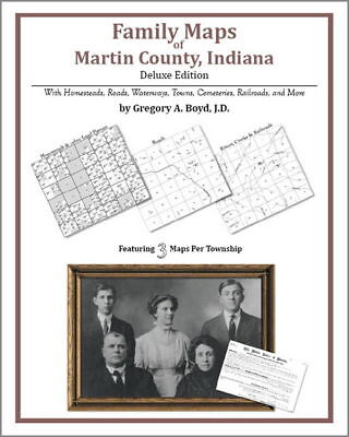 Family Maps Martin County Indiana Genealogy IN Plat