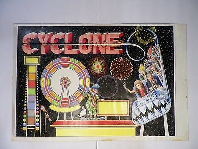 Original Cyclone Backglass Art From the Python Anghelo Estate/Private Collection