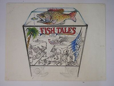 Original Fish Tales Concept Art From Python Anghelo Estate/Private Collection