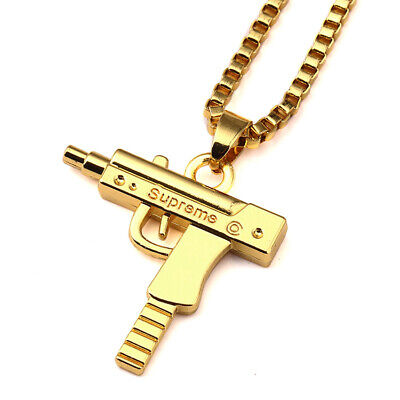 SUPREME Necklace Gold Block Bar Plaque Pendant Chain U.K SELLER *NEW*