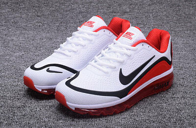 NIKE AIR MAX 2017 Men's Running Trainers Shoes (white/red/black)