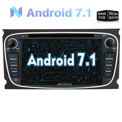 "7"" 2 Din In Dash Android 7.1 Car Stereo DVD Player 2GB 32GB Radio Bluetooth DAB+"
