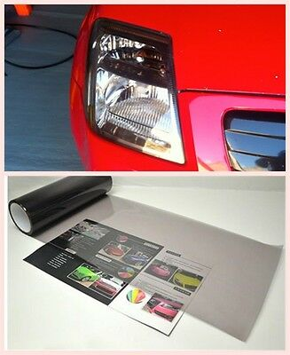 Gloss Light Smoke Vinyl Film Tint 100X30cm Headlight Taillight Fog Wrap Cover